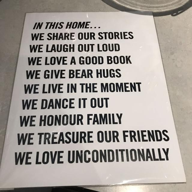 Chapters indigo home art print new in package