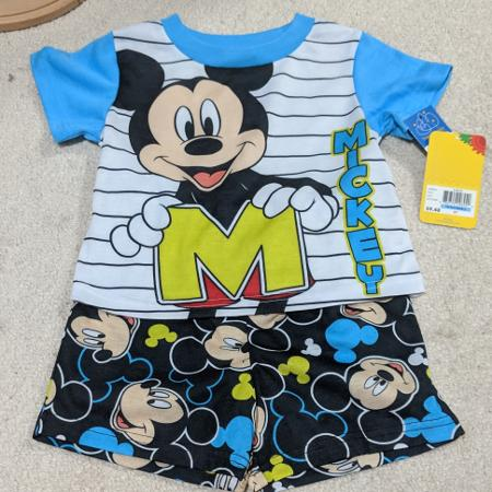 f938fbfe Disney Mickey Mouse Clubhouse 2-Piece Toddler Boy's Pajamas, NWT, Size 2T