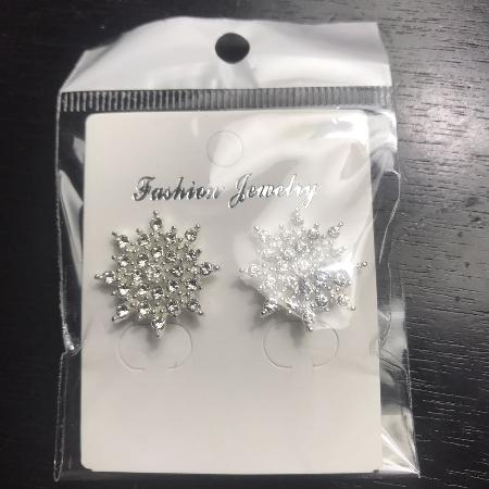 Sliver Snowflake Stud Earrings for sale  Canada