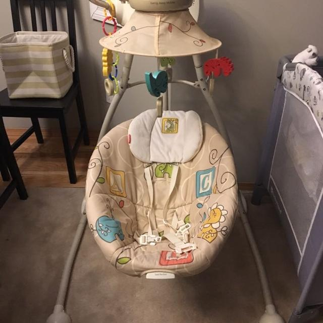 Gently Used Fisher Price Swing Away Mobile Baby Swing