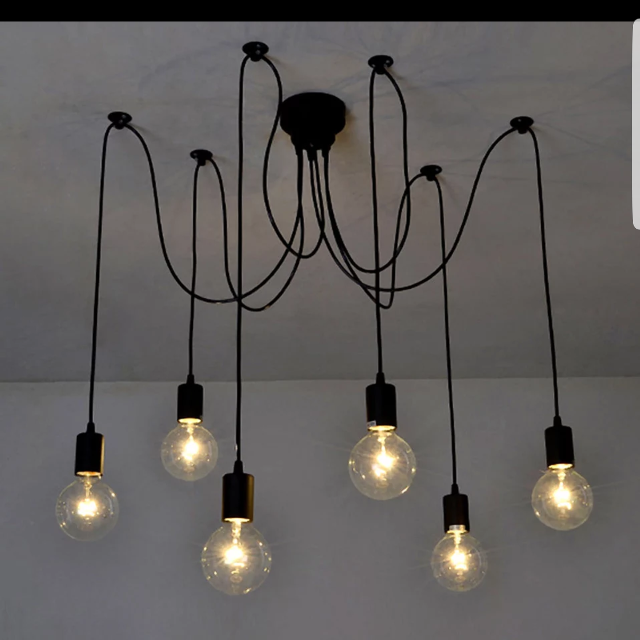 2 New 8 Arms Branch Octopus Light Chandelier Suspension