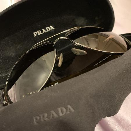 fe9e697d363b3 Euc authentic Prada aviator unisex sunglasses