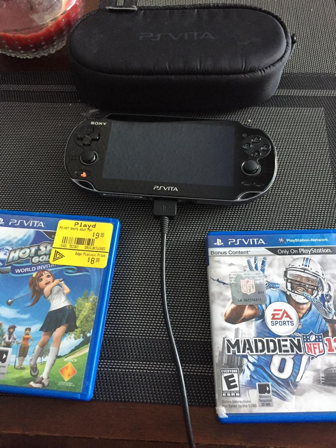 REDUCED!! Ps vita with games and case