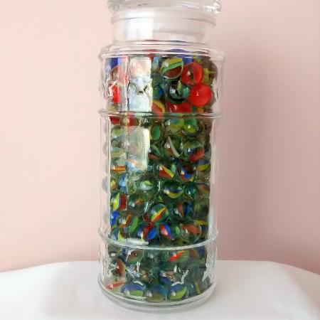 Large Heavy Glass Clear Jar Embossed... for sale  Canada