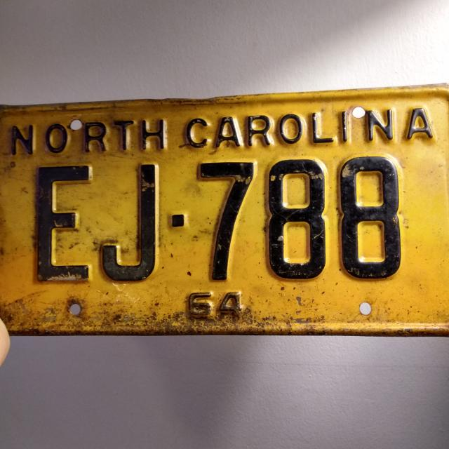 1964 North Carolina license plate