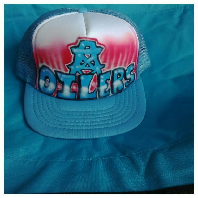 Best New! Houston Oilers Cap Hat Custom Airbrushed for sale in ... 36b30908a5a