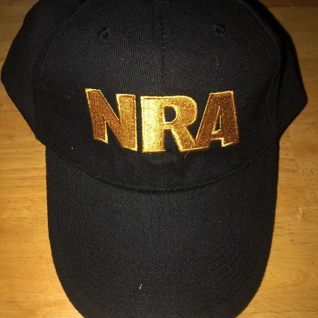 ba5246d9 NRA Cap National Rifle Association Black Gold Baseball Hat Cap Embroidered  USA Excellent condition looks unused. Must Pickup In McDonough