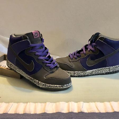 """96553be6351 Nike Dunk High Premium """"Quake"""" athletic shoes in like new condition. Size 12"""