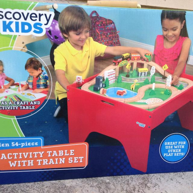 Find more Discovery Kids 54-piece Activity Table Train Set New for ...