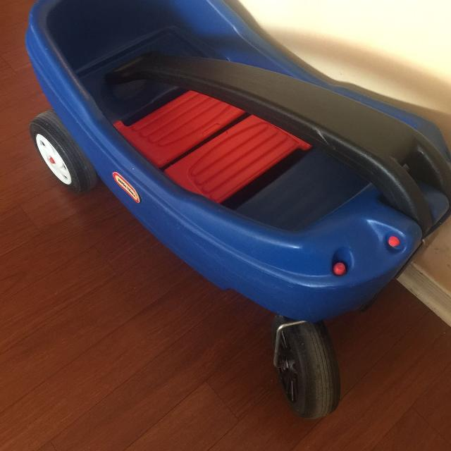 Final price drop! Little tikes wagon EUC cart toddler push car pull along  cart