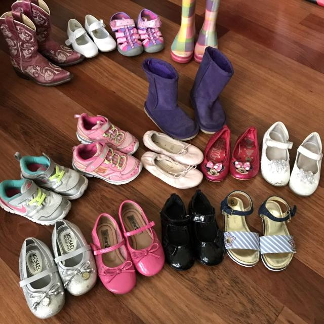 2fc93ad0284cb5 Best Size 8 Toddler Girl Shoes Lot. Top Row Size 9 Sold Separately. for sale  in New Braunfels, Texas for 2019