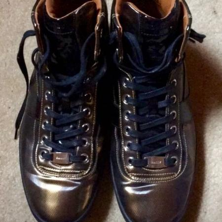 07ef80ff5bd Bally Men s Eroy Cat Eye Metallic High-top Sneakers