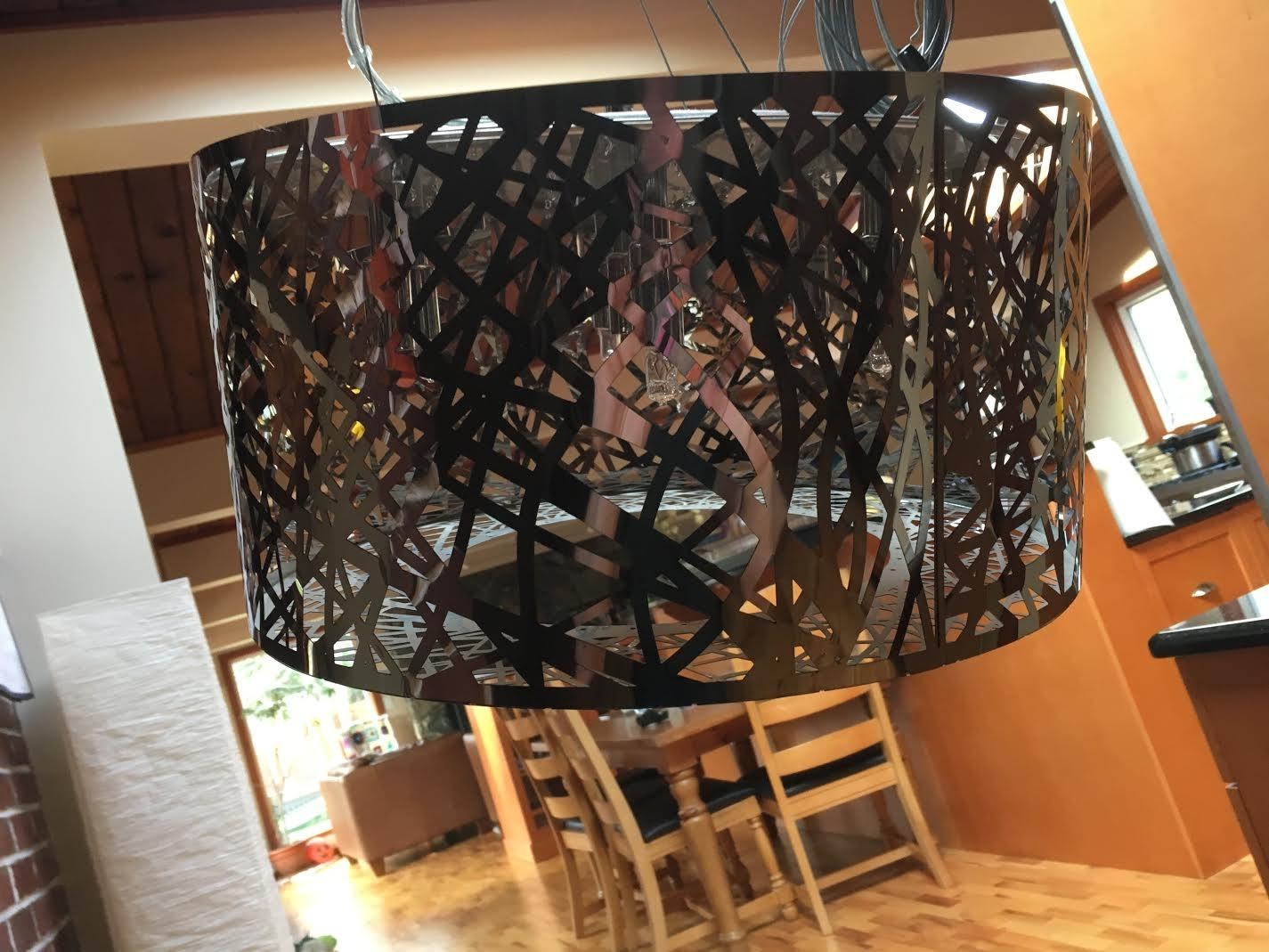 Best amazing chrome dining room light fixture for sale in victoria british columbia for 2019