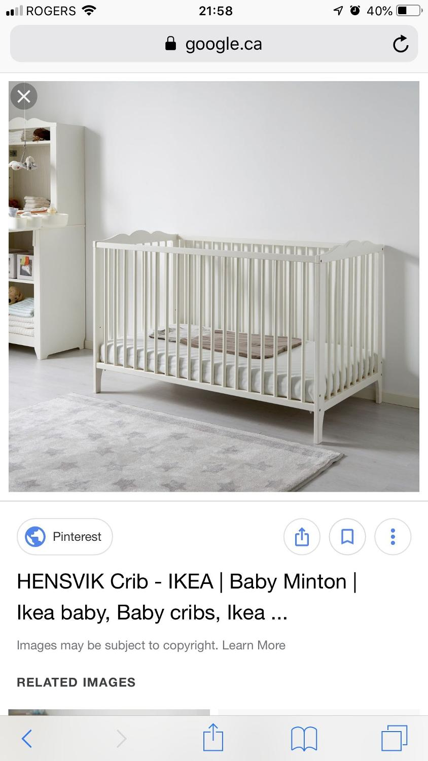 Find More Ikea Hensvik Crib Guc With Mattress Free For Sale At Up To 90 Off