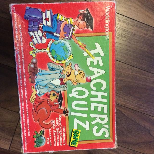 find more board game teachers quiz for sale at up to 90 off