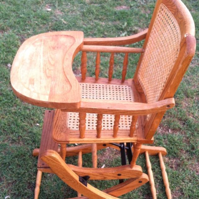 Antique high chair/rocker combo, may negotiate price - Best Antique High Chair/rocker Combo, May Negotiate Price For Sale