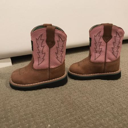 Baby John deer cowboy boots size 4m, used for sale  Canada