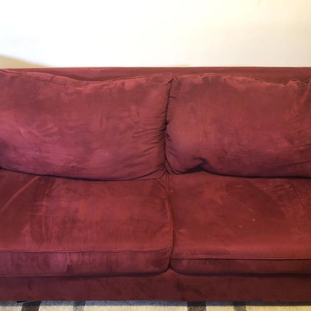 Find more Red Suede Sofa Couch for sale at up to 90% off
