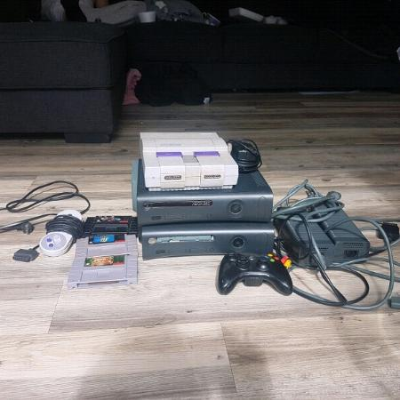 Used, 2 xbox 360s and Super Nitendo with 3... for sale  Canada
