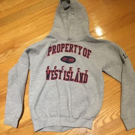 80fd56f6f71e Hockey West Island hoodie. With  13 on the arm. Size M. (