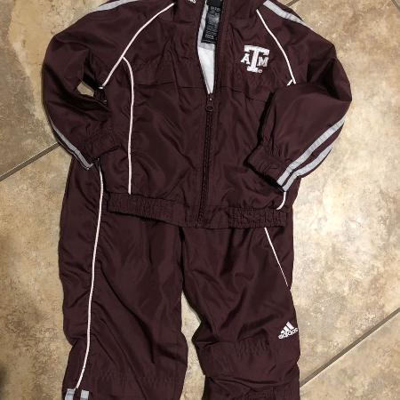d143530d Adidas Texas A&M Aggies Maroon 2pc Jacket With Matching Pants. Very Nice  Condition. Size