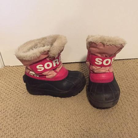 9984c292897 Sorel winter boots toddler girl size 10