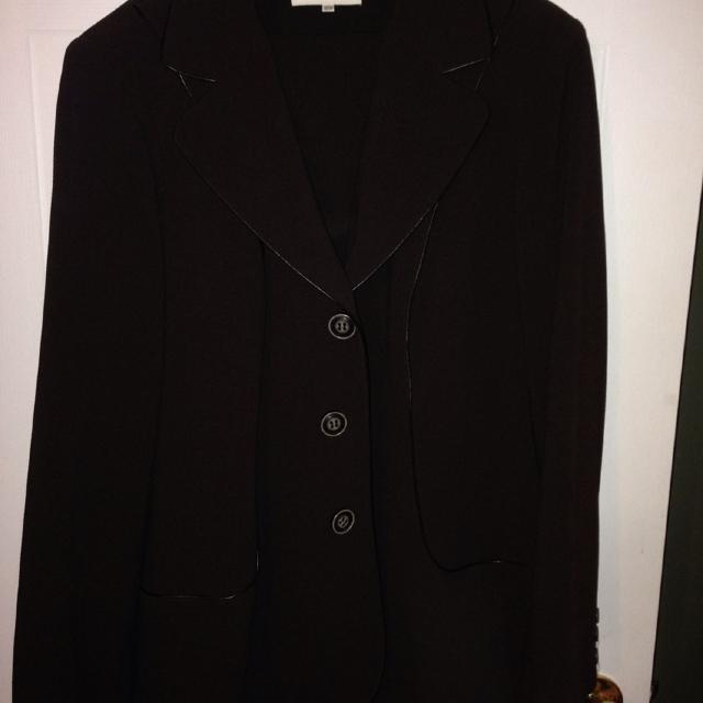 1e32b13aa4929 Best Brown With Brown Leather Piping Suit. Laura Plus. Jacket 16w And Pants  18w.  30. for sale in Clarington