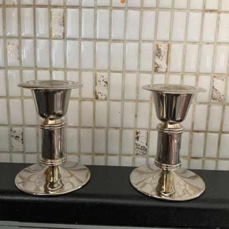 Used, 2 Vintage Candle Holders *Zinc Uni EP... for sale  Canada