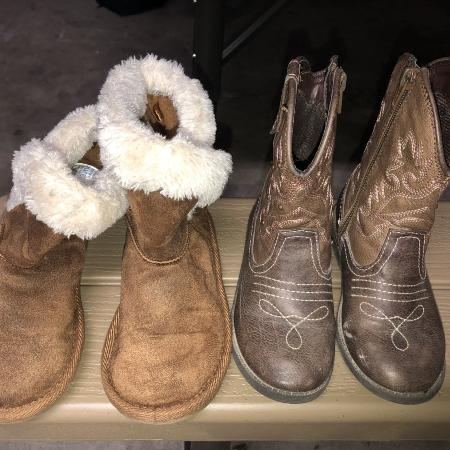 da98c56eaff Find more Girls Rose Gold Combat Boots Size 11 for sale at up to 90 ...