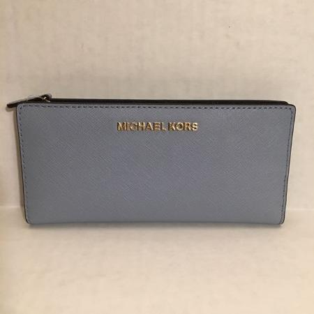 e1939c98a6d8 NWT New Michael Kors Jet Set Travel Leather Large Card CSE Carryall Wallet