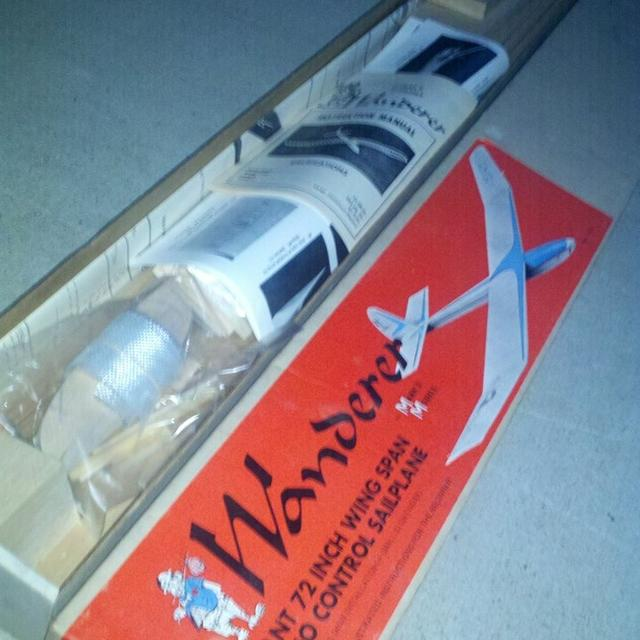1976 BNIB Marks Models Wanderer Rc Sailplane Kit