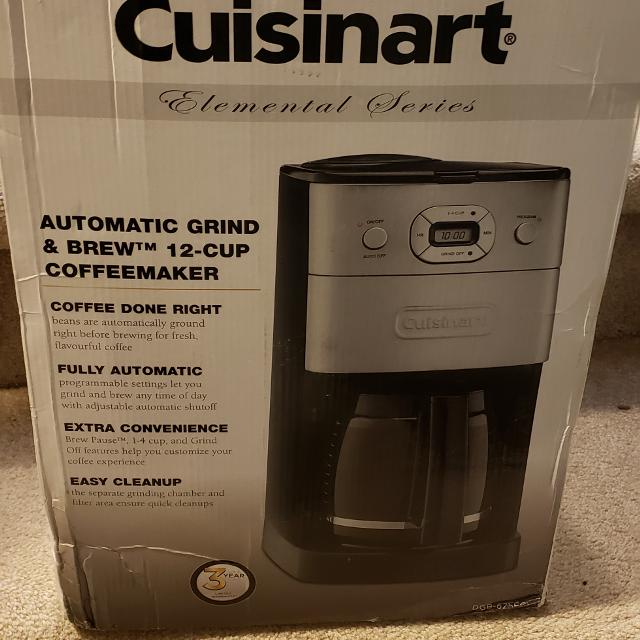 BNIB cuisinart 12 cup Grind and Brew