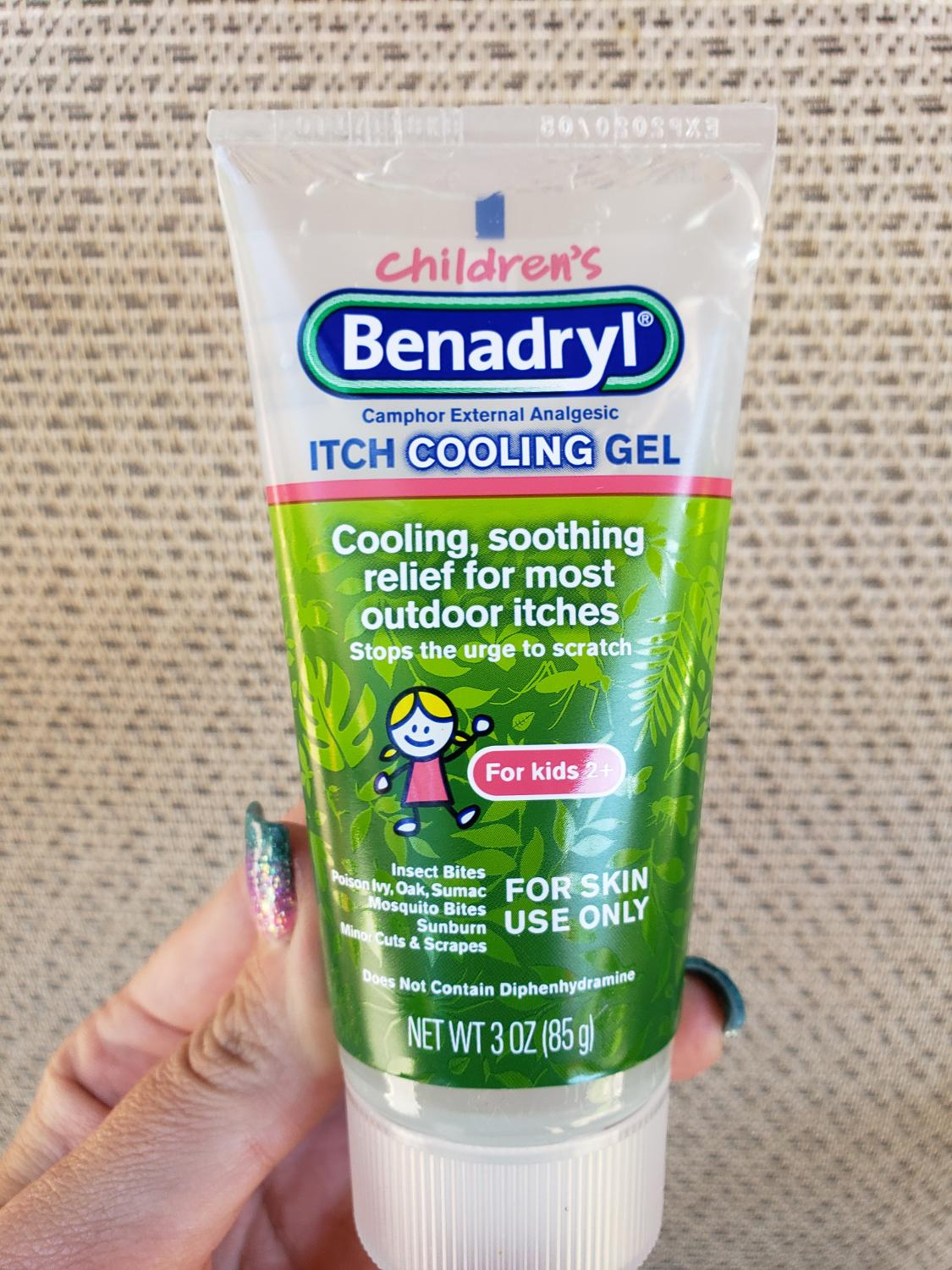 Children's benadryl itch cooling gel NEW AB MAY 24TH