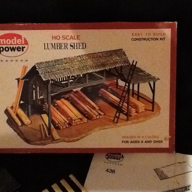 Model Power HO Scale Lumber Shed Building Kit (#436) - Made in West Germany