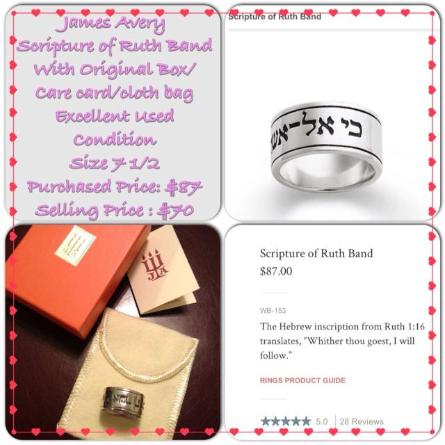 Best James Avery Scripture Of Ruth Band For Sale In Potranco Road