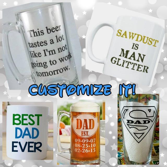 c00dc6a021c Customized Father's Day Mugs/Glasses