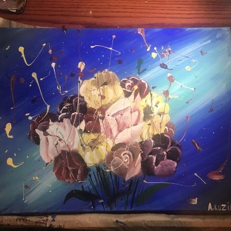 Flowers painting abstract original... for sale  Canada