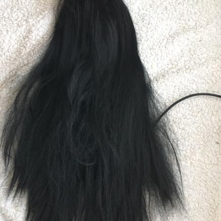 "24"" black lace front wig, used for sale  Canada"
