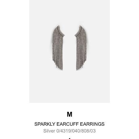 Zara Sparkly Ear Cuff Earrings, used for sale  Canada