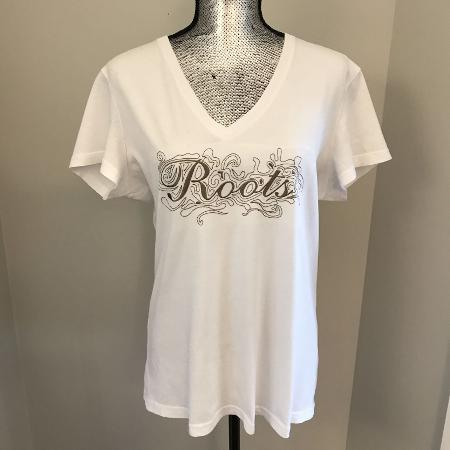 Roots 73 V-Neck T-Shirt, Size Large,... for sale  Canada