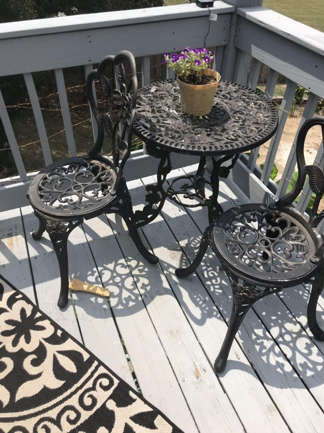 Find More Wrought Iron 3 Piece Patio Set For Sale At Up To