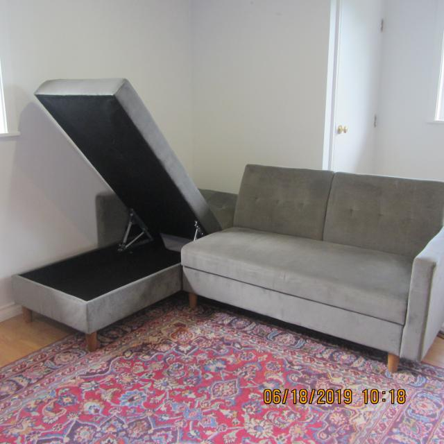 ONE YEAR CORNER SOFA - BED FOR SALE