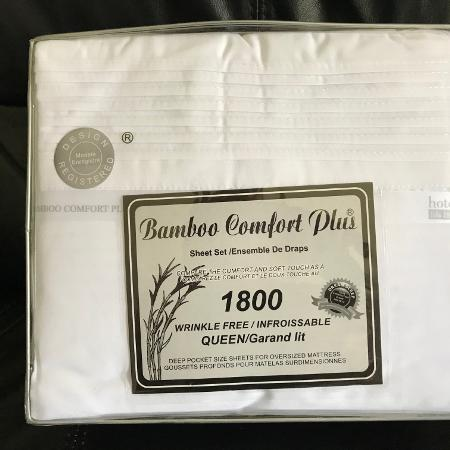NEW BAMBOO COMFORT PLUS QUEEN SHEET SET for sale  Canada