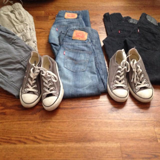 c8019f33f6a31 Levi's jeans size 8 (never worn) cargos lined with jersey cotton size 8  converse sneakers size 3 (gently used) costumes sizes 5-7