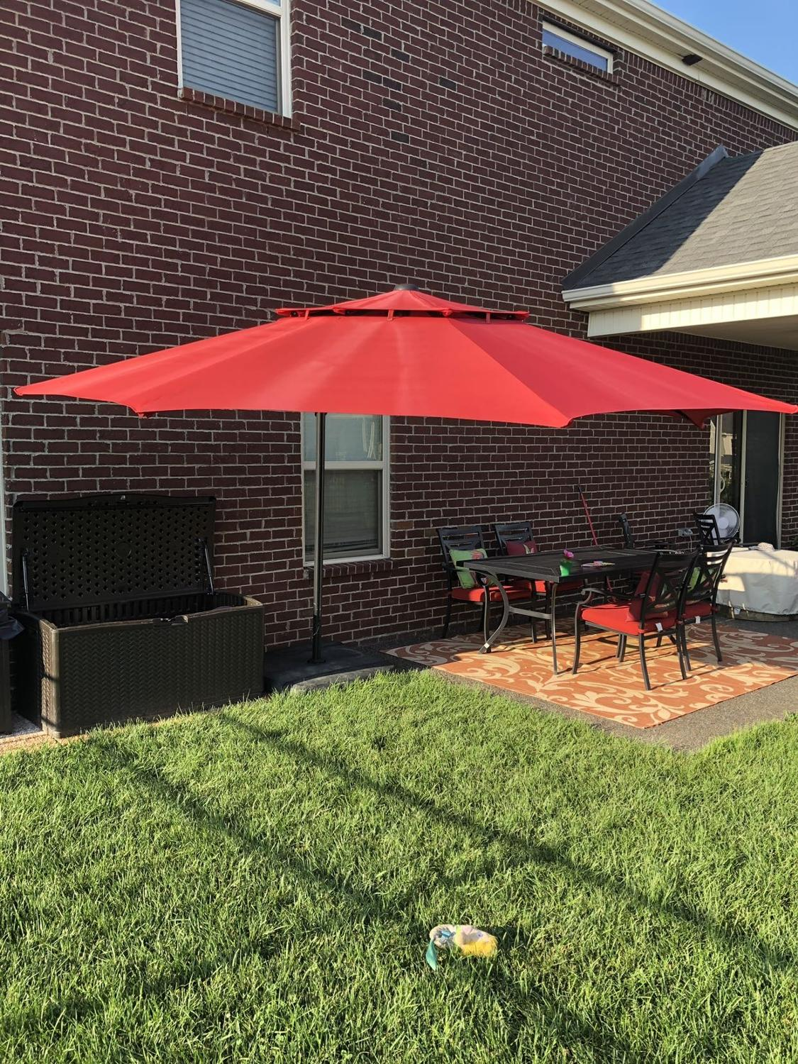 Find More Patio Stand Alone Red Umbrella For Sale At Up To