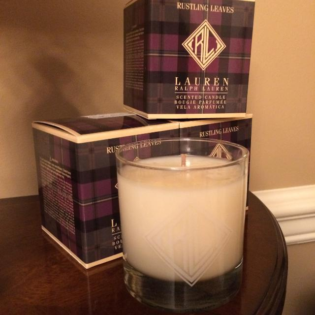3 Ralph Lauren Candles in Rustling Leaves Scent - New in Boxes