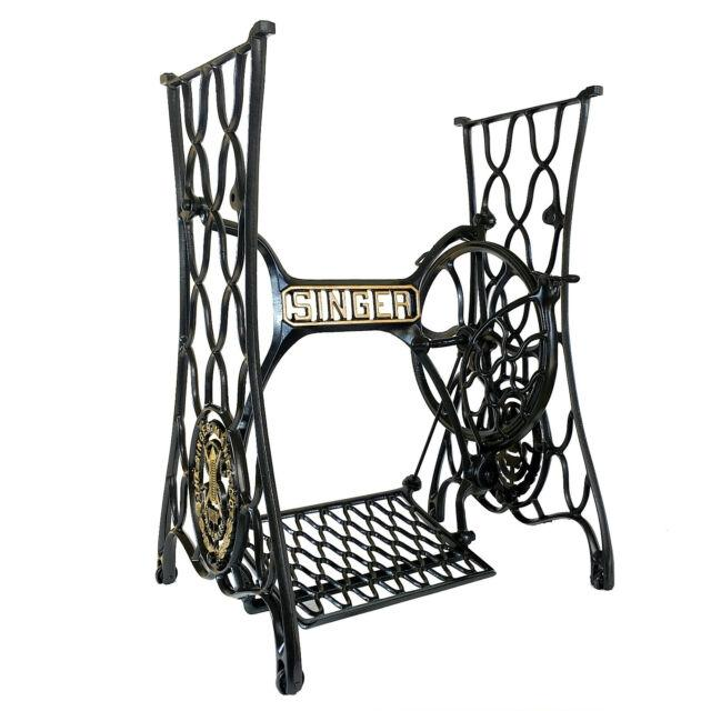 Best Singer Sewing Machine Treadle Table Cast Iron Stand ...