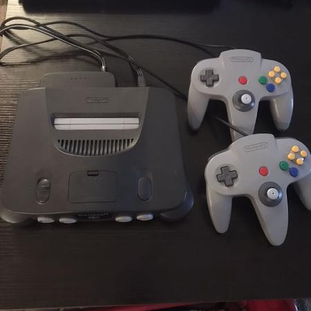 Used, N64 system with cords and controllers for sale  Canada