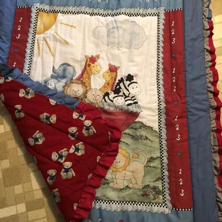 Homemade quilted baby blanket for boy... for sale  Canada