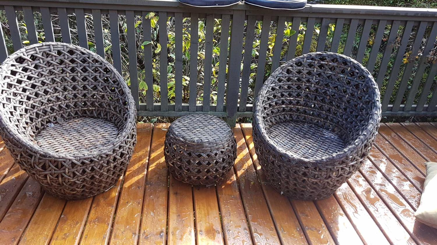 Best Two Natural Fibre Club Chairs W Cushions For Sale In